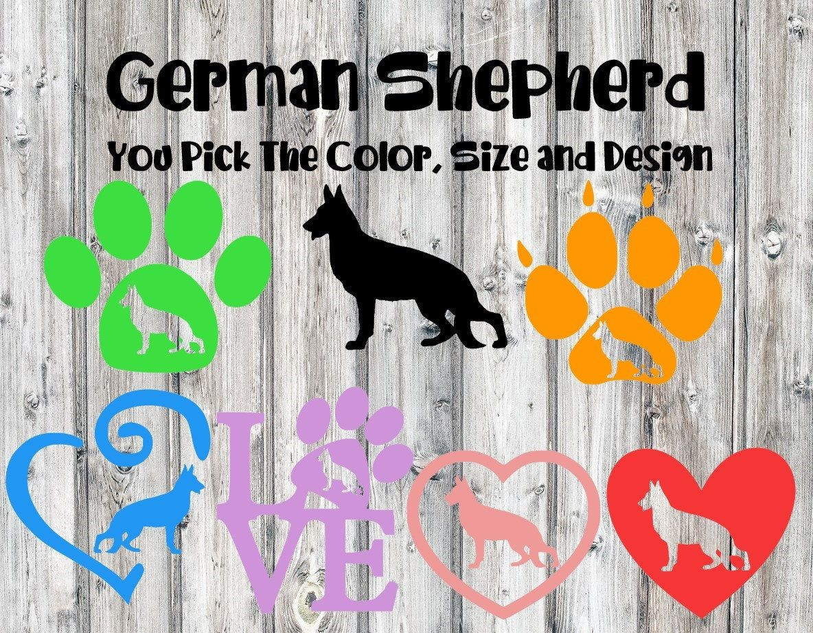 German Shepherd Dog Decal Gsd Shepherd Decal Dog Decal Etsy Dog Breed Decal Dog Decals Car Dog Decals [ 921 x 1184 Pixel ]