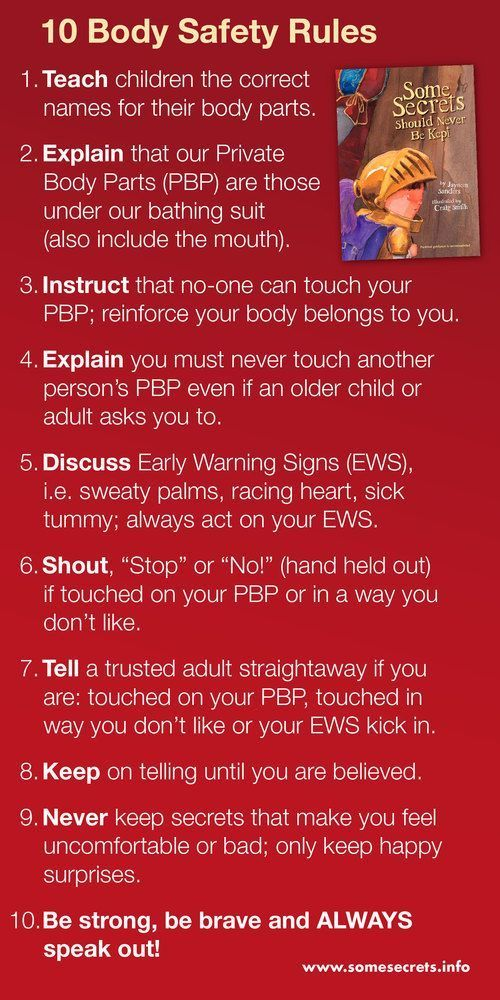Photo of 10 Body Safety Rules — Educate2Empower Publishing