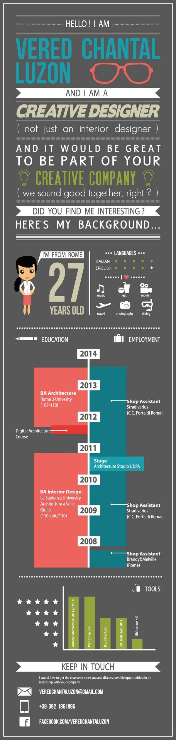 Pin de Louis Vo en CV Infographic   Pinterest