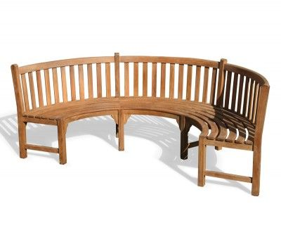 Teak Henley Curved Bench Indonesia Furniture Outdoor Teak