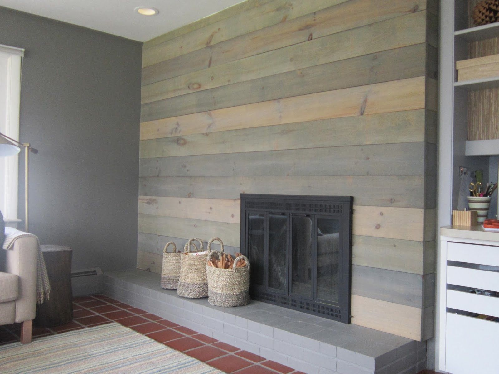 Faux Barnwood Wall on Design Sponge!