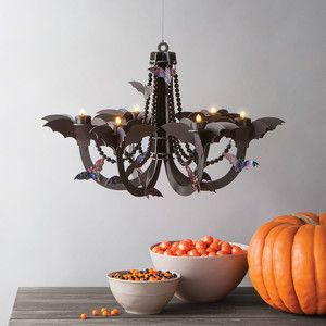 Our haunted halloween shop halloween shops and hocus pocus martha stewart bat chandelier aloadofball Gallery