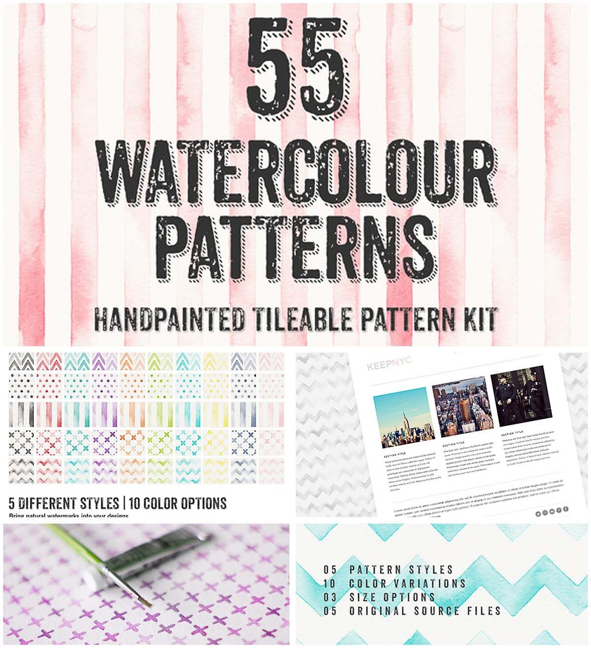 Watercolor Patterns Collection