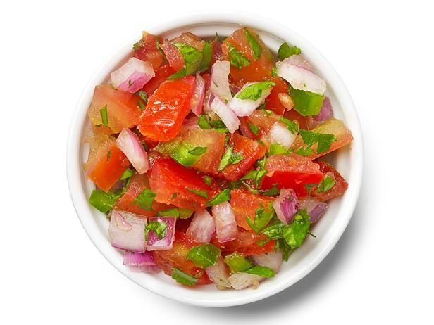 Pico de Gallo : Mix 3 chopped tomatoes, 1 diced seeded jalapeno, 1 diced red onion, 2 tablespoons chopped cilantro, 1/4 teaspoon ground cumin, and salt to taste.