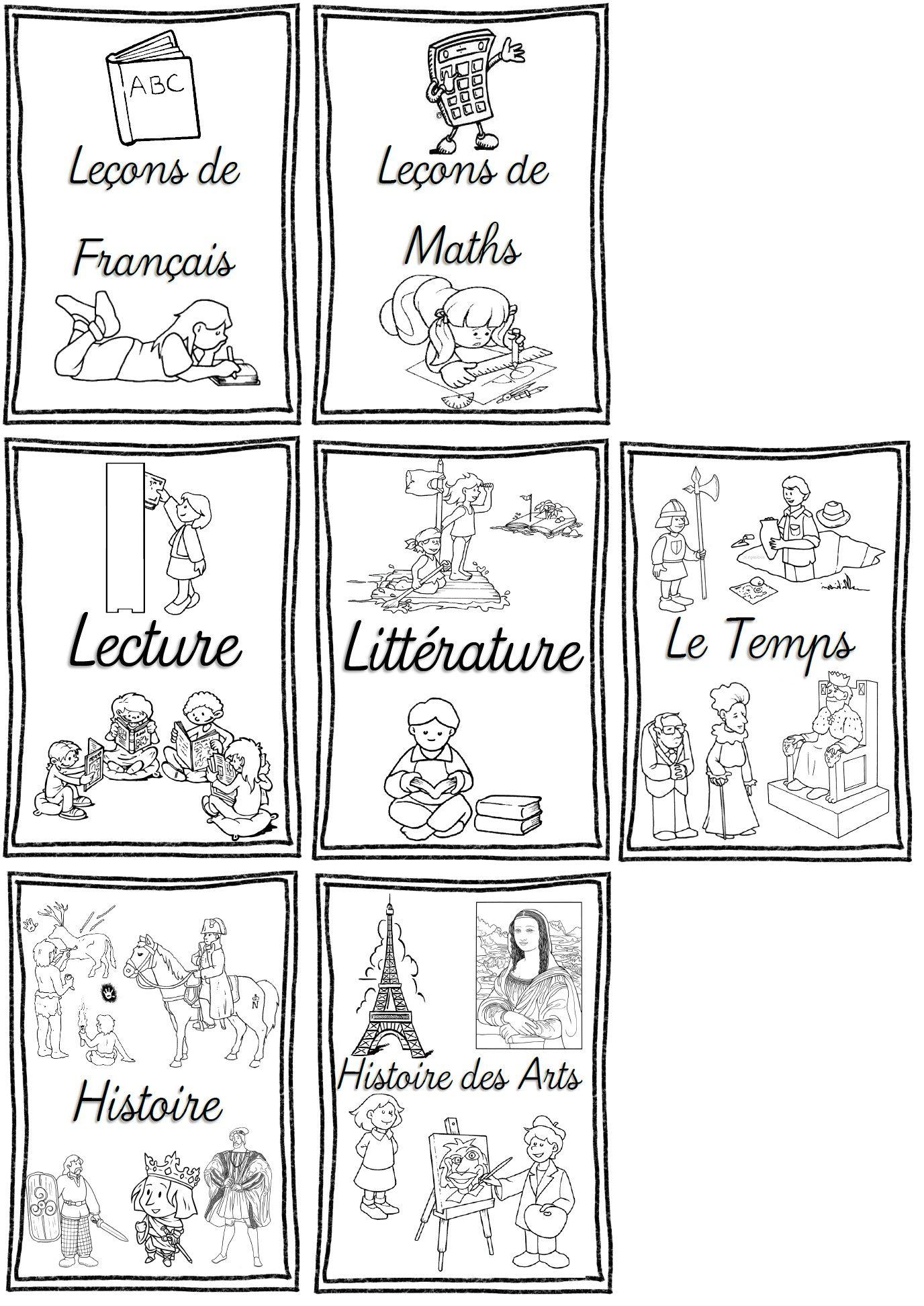 Rentree Pages De Garde Pour Cahiers Porte Vues Et Classeurs Cycles 2 Et 3 Pages De Garde Cahiers Page De Garde Ce1 Page De Garde Francais