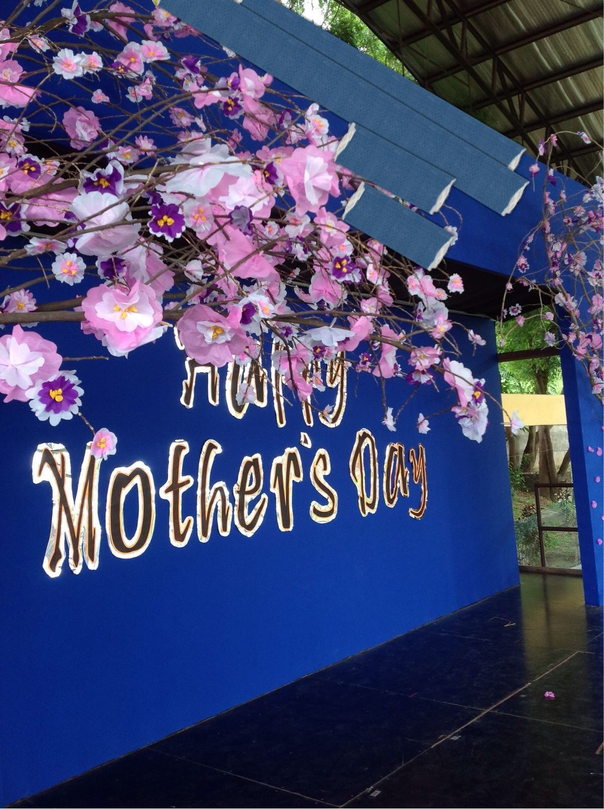 Japanese Classroom Decor ~ Mother s day stage decoration cherry blossoms bulletin