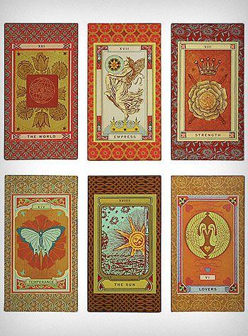 Vintage Tarot Cards Art, Set of 6  $46 00 | LoveitXD
