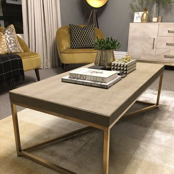 Houseology Collection Faux Shagreen Coffee Table By Emily