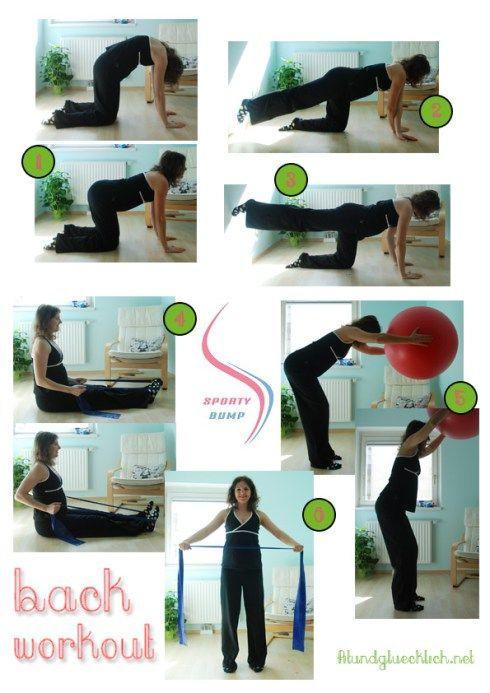 Workout für die Schwangerschaft http://fitundgluecklich.net/2014/04/03/sportybump-ruckenworkout-back-workout/
