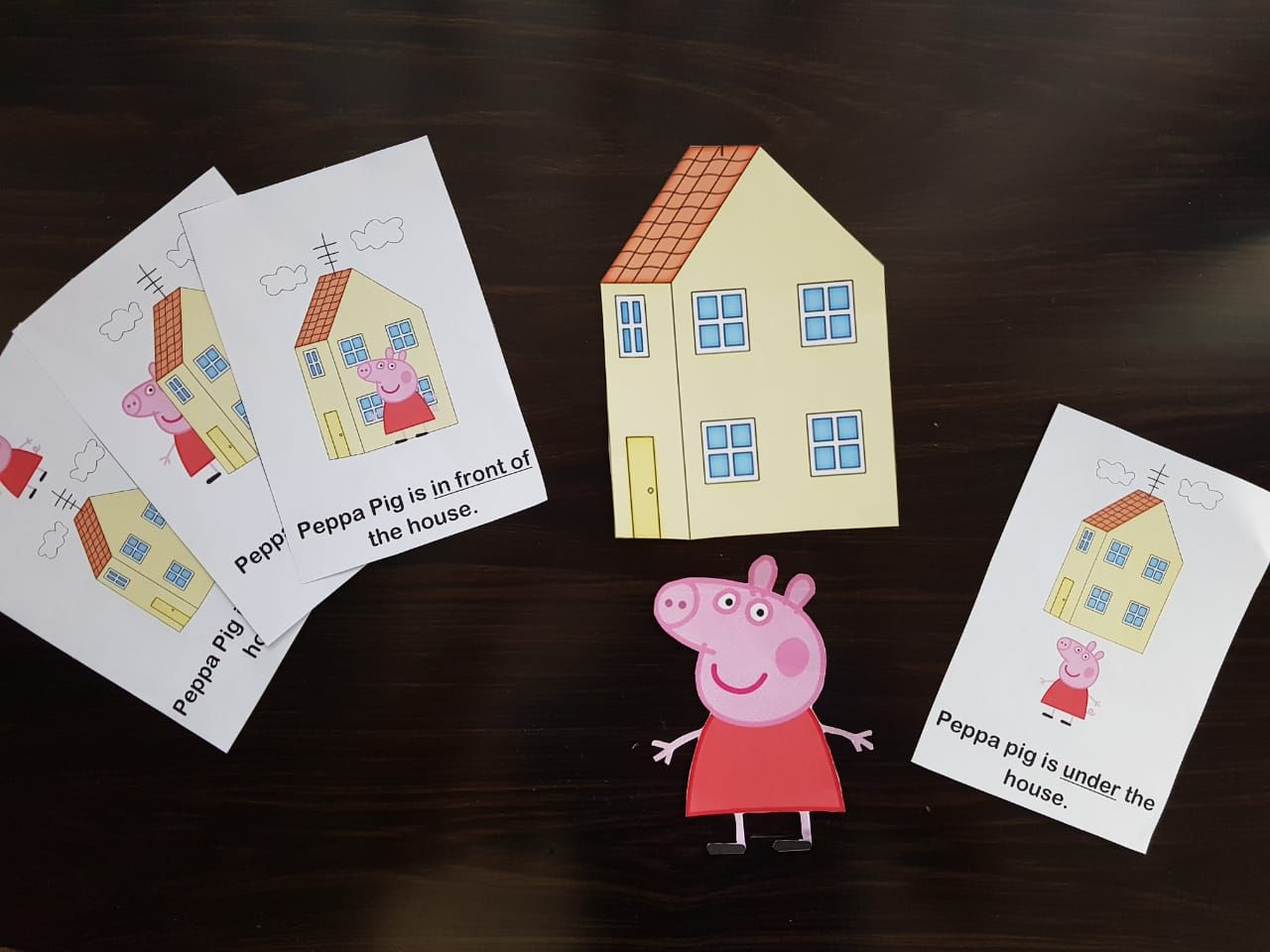 Peppa Pig Themed Preposition Words Activity In