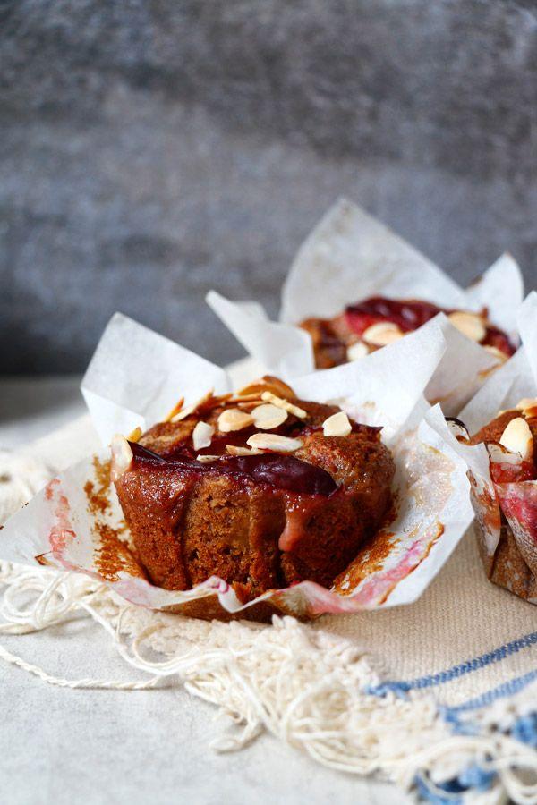 Healthy Gluten Free Plum Muffins Vegan