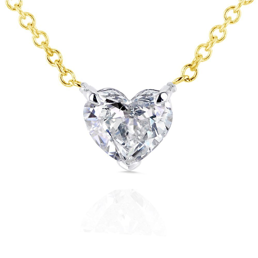 Annello by kobelli 14k yellow gold floating heart certified 12ct annello by kobelli 14k yellow gold floating heart certified 12ct diamond solitaire necklace aloadofball Images