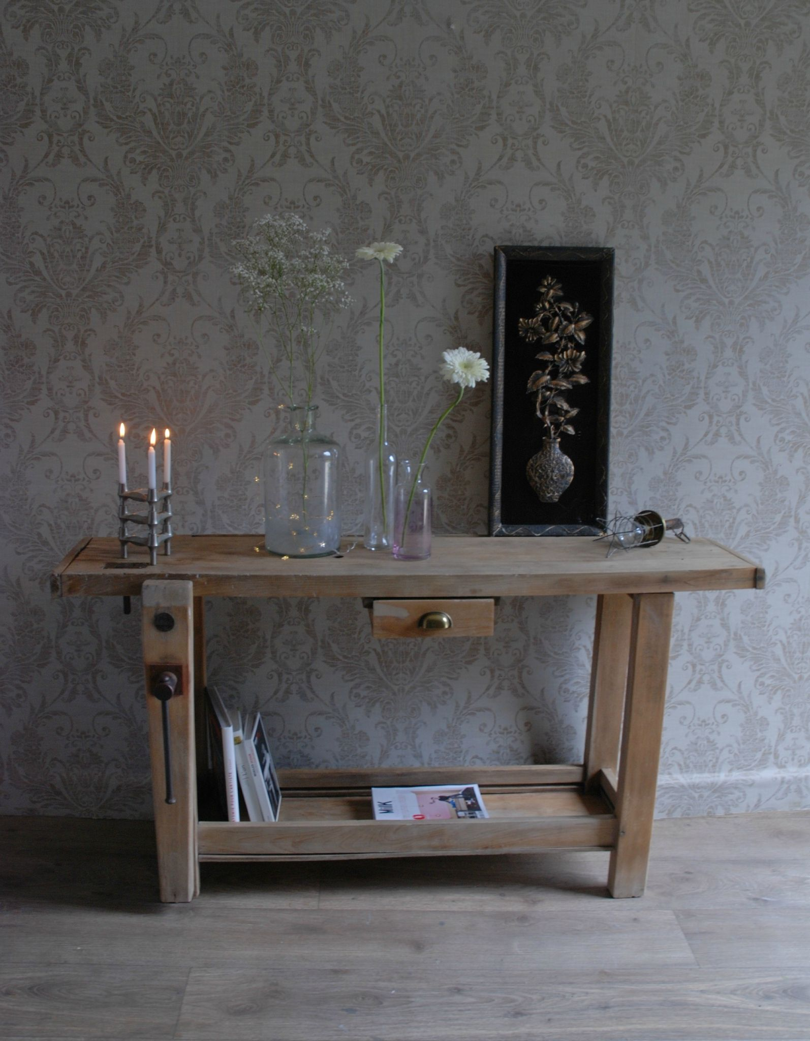 Ancien Tabli Workbench Pinterest Tablis Ancien Et Alchimie # Meuble Console Pour Tv