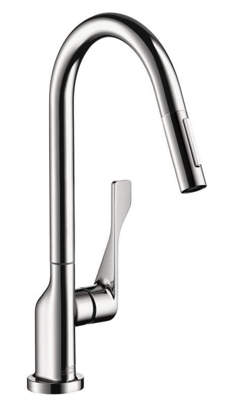 View the Hansgrohe 39835 Axor Citterio Pull-Down Kitchen Faucet with ...
