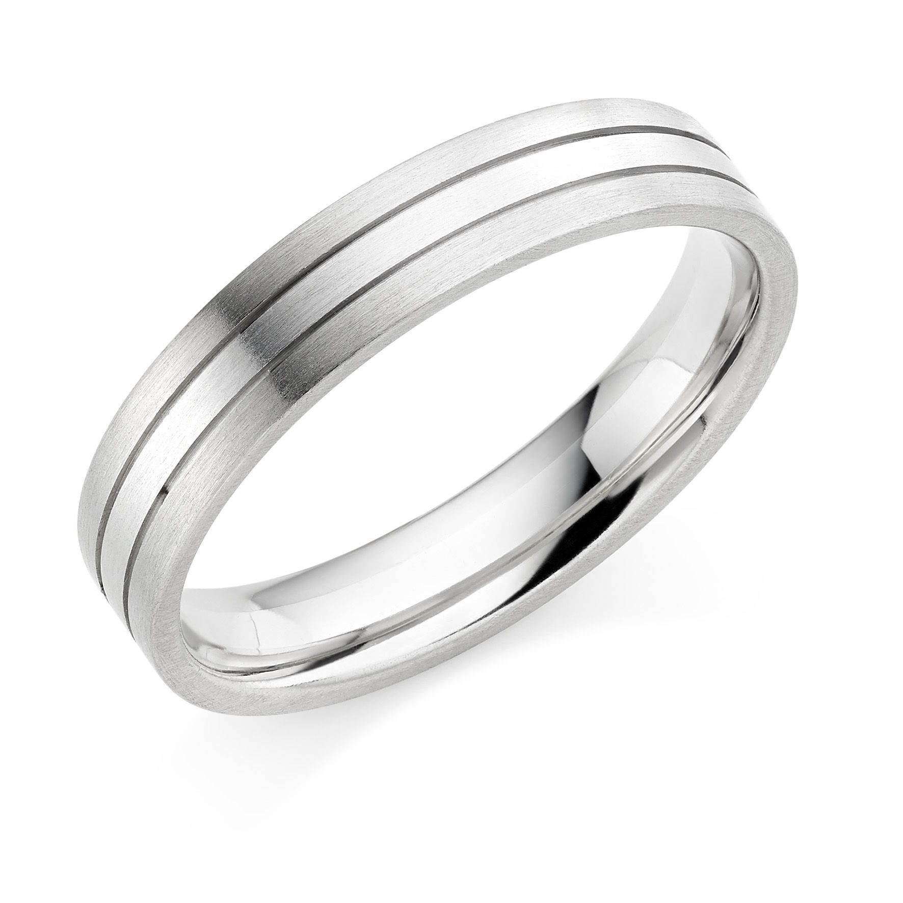 Our Platinum 18ct white gold 45mm Mara wedding ring