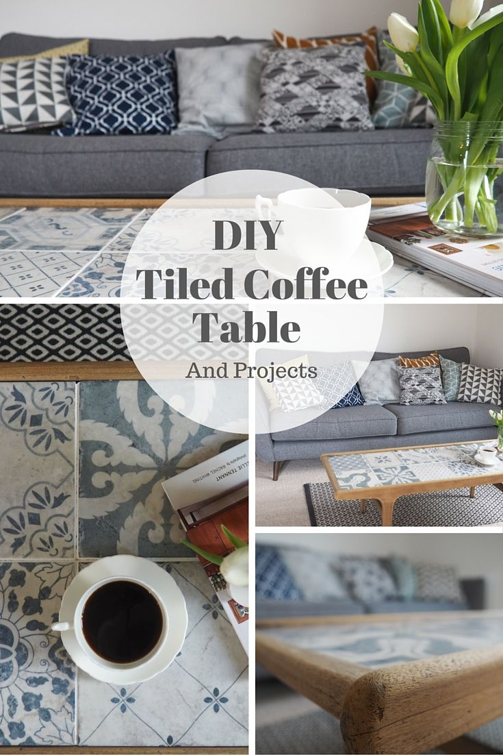 Use Leftover Tiles To Create A Diy Coffee Table This
