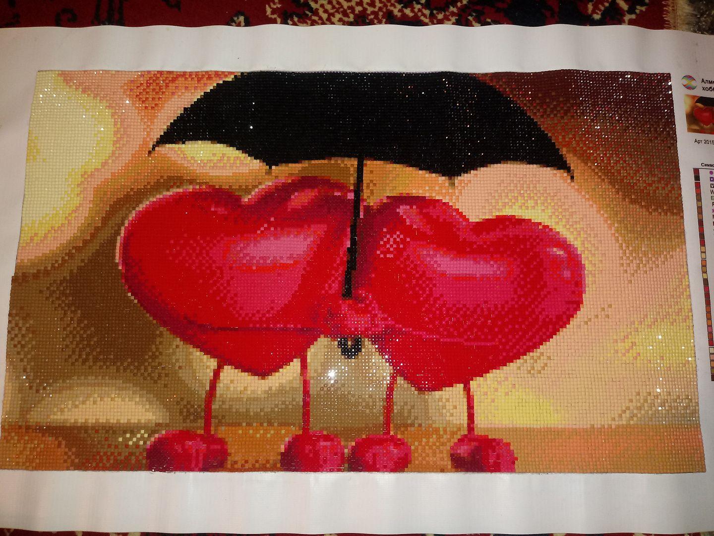 каждого картинка два сердца под зонтом просчитать