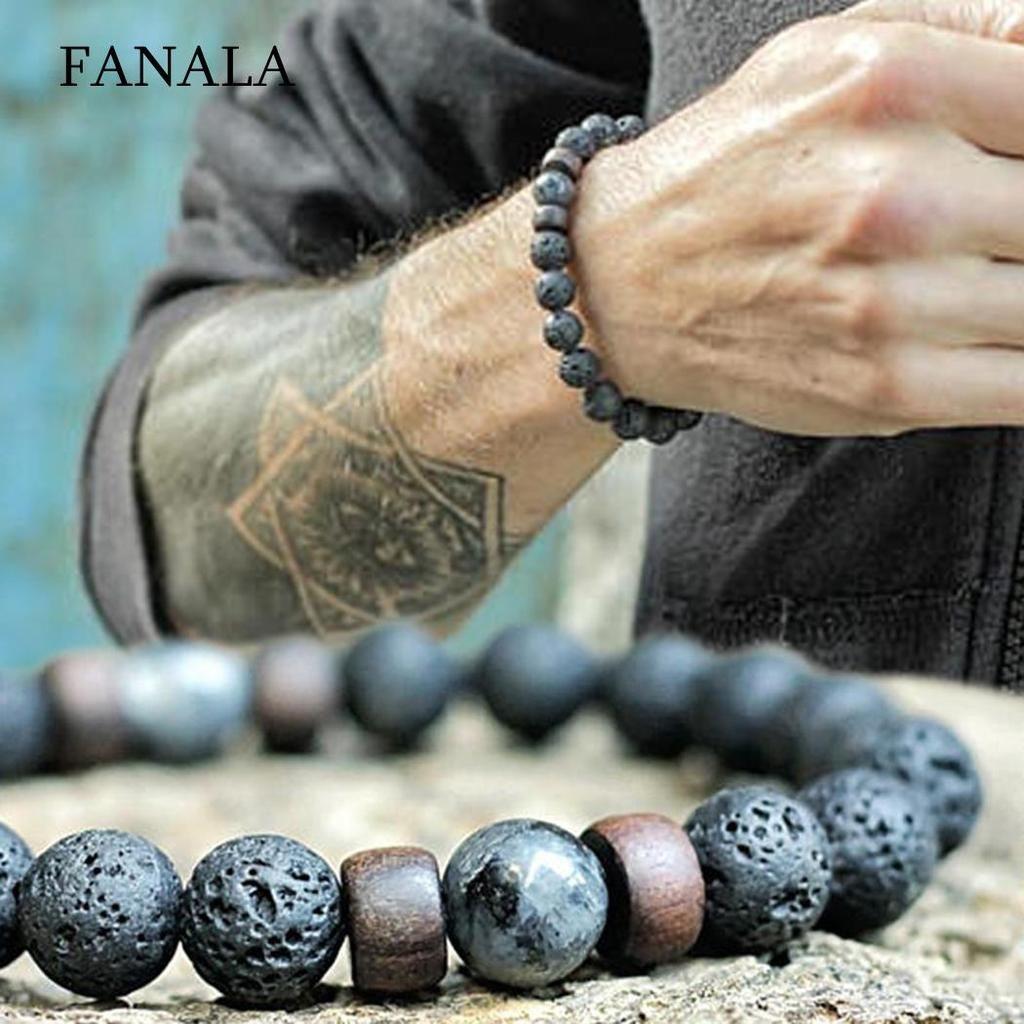 ce822299917ae FANALA - Natural Lava Rock Stone Beads Bracelet | Awesome Stuffs ...