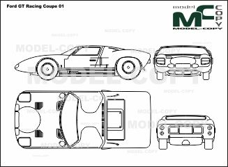 Ford GT Racing Coupe   Blueprints (ai, Cdr, Cdw, Dwg, Dxf