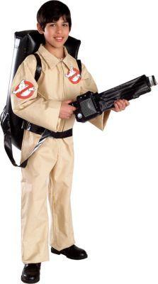 Ghostbusters Costume Kids Jumpsuit Proton Pack Backpack Halloween Fancy Dress