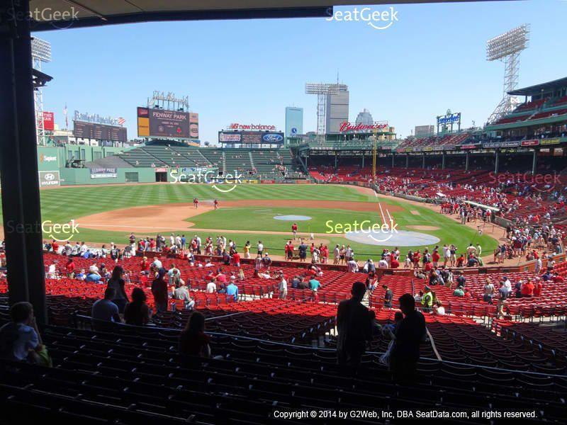 Fenway Park Infield Grandstand 24 View Boston Bucket List Fenway