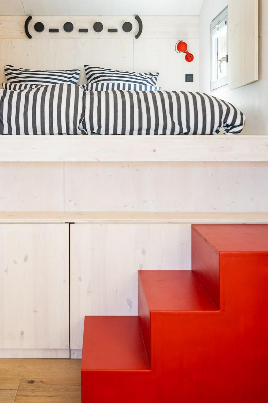 Schlafkoje im Ferienhaus Siebenhain im Leipziger