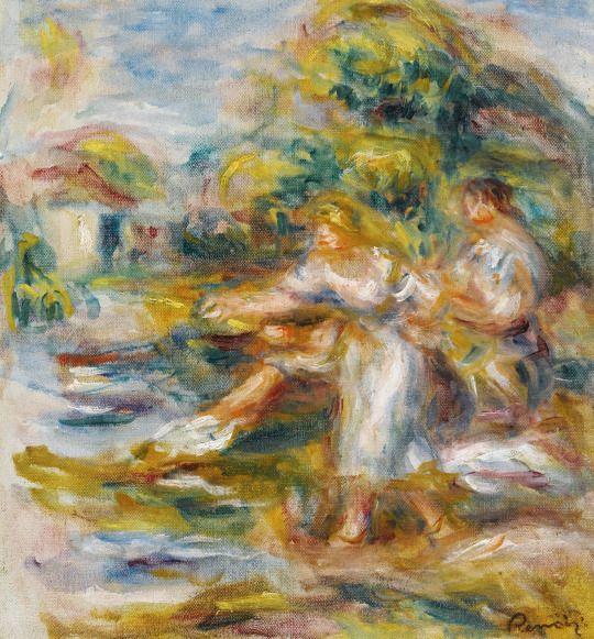 Pierre-Auguste Renoir (1841-1919), Pêcheuses à la ligne, 1917. oil on canvas, 30.5 x 28 cm
