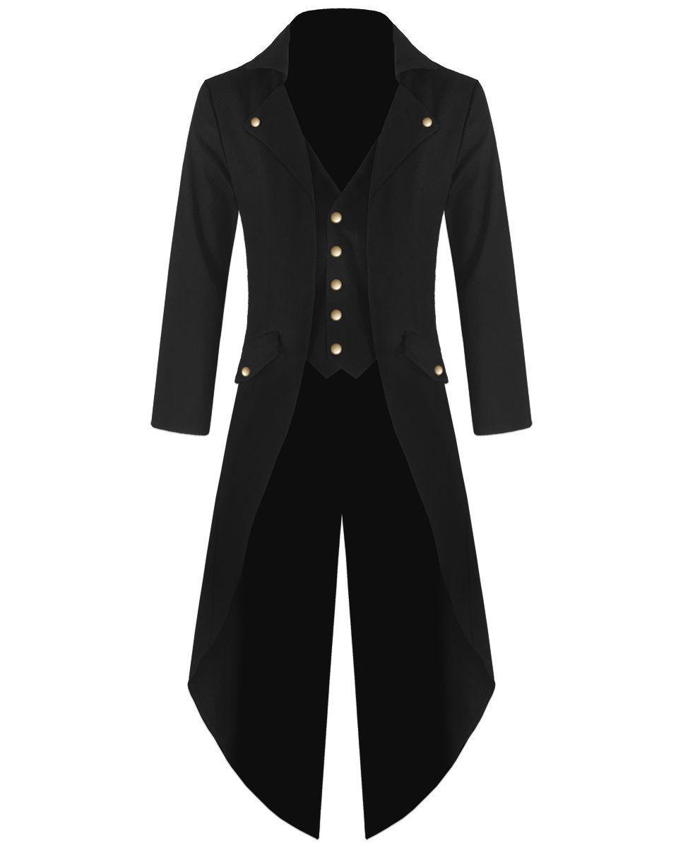 handmade mens steampunk tailcoat  jacket  gothic  victorian coat s - 5xl,  View cb6714308e44