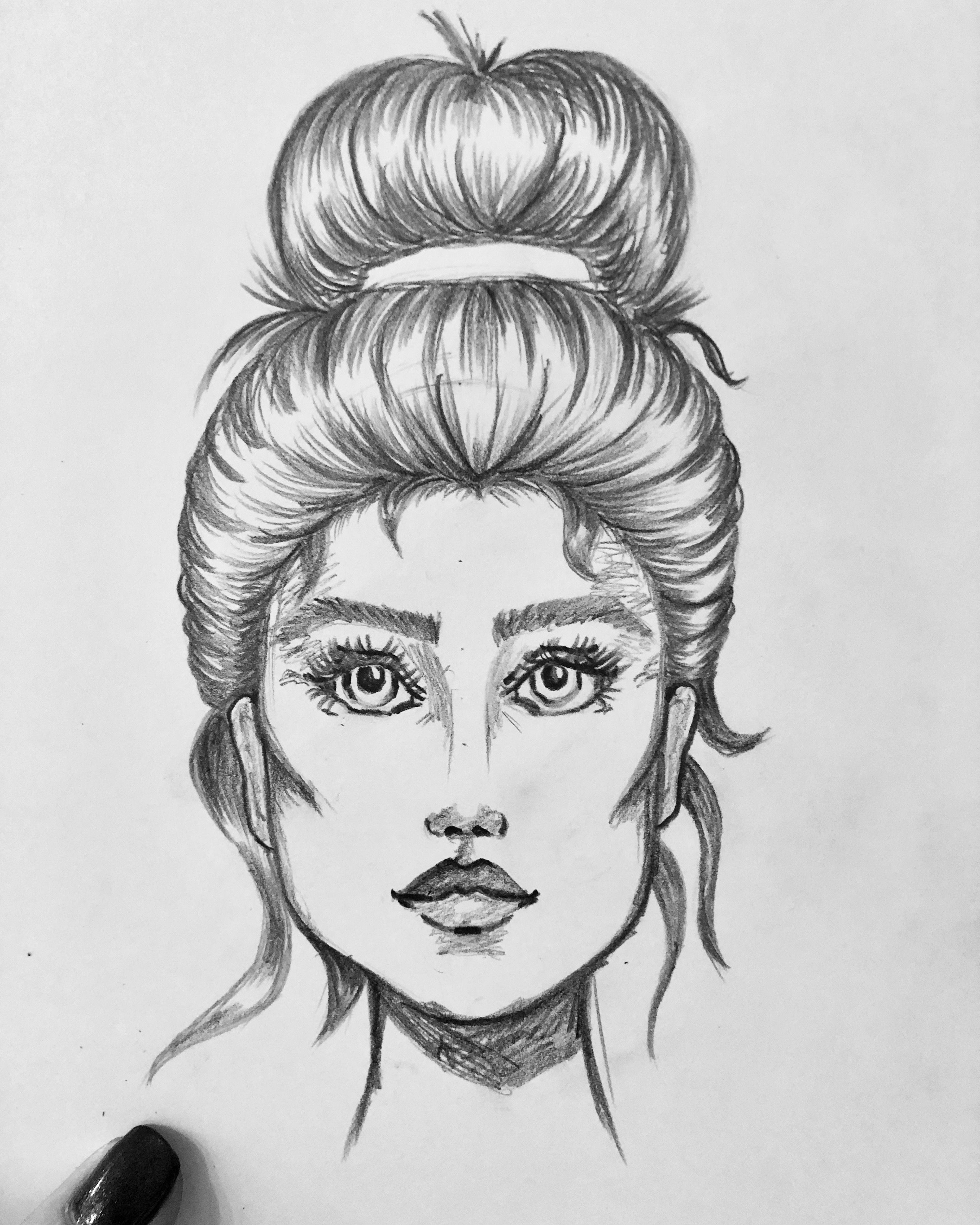 Pin by Seredkinay on Мои работы Girl sketch, Female