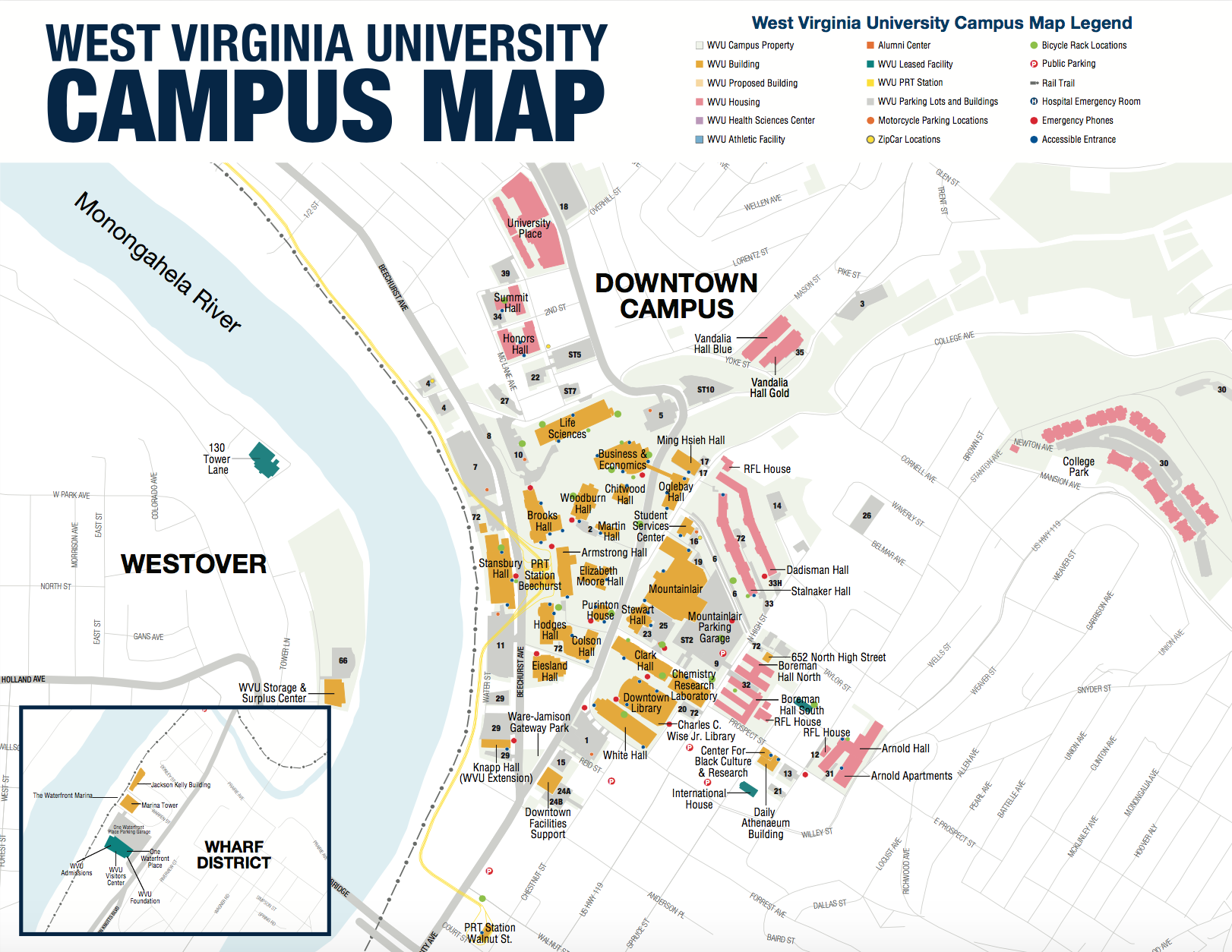 Grab a Downtown campus map to see one of our three campuses in