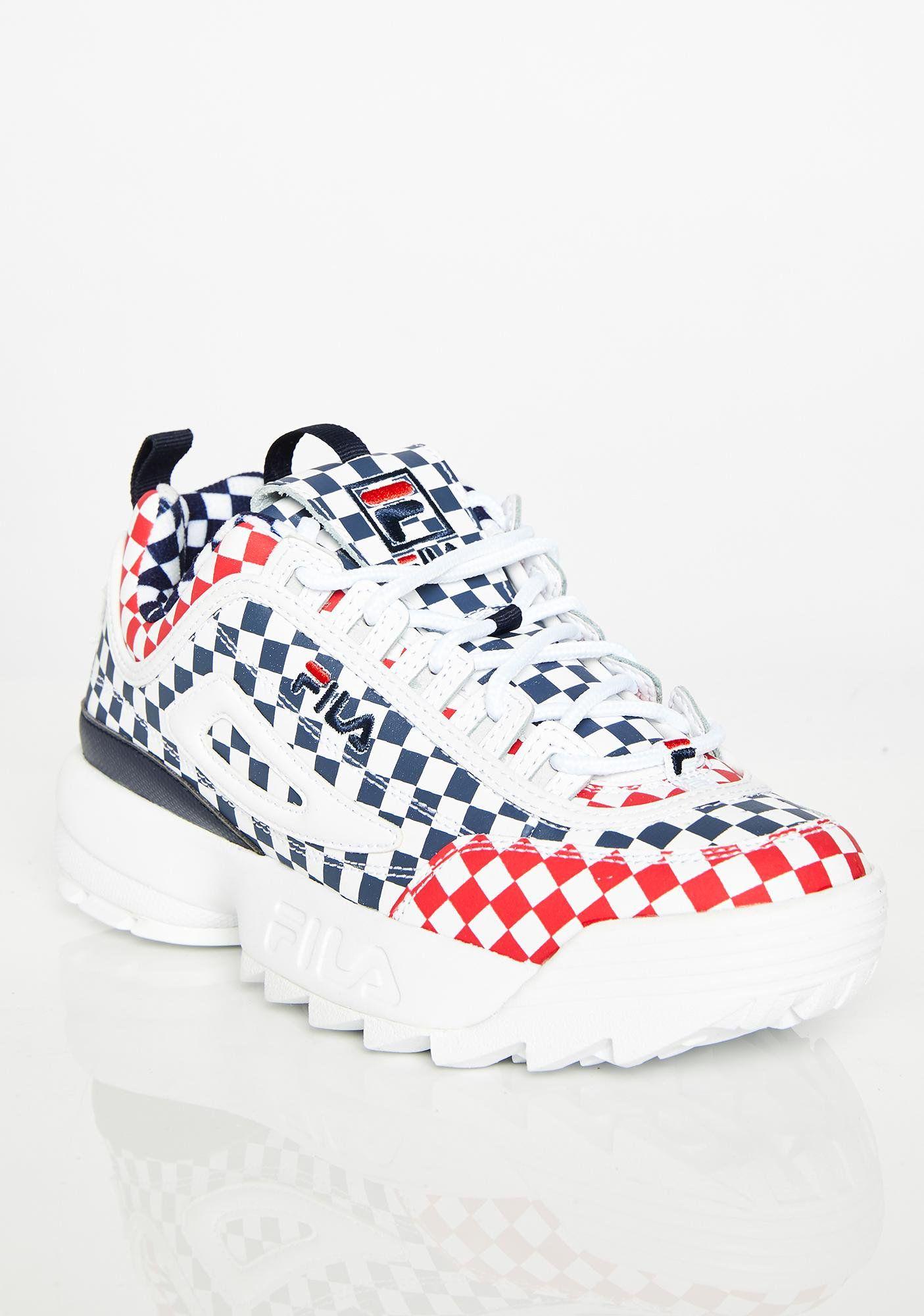 Royal Disruptor II Checkered Sneakers
