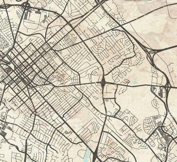 LEXINGTON KY Canvas print Kentucky KY Vintage map City Horizontal