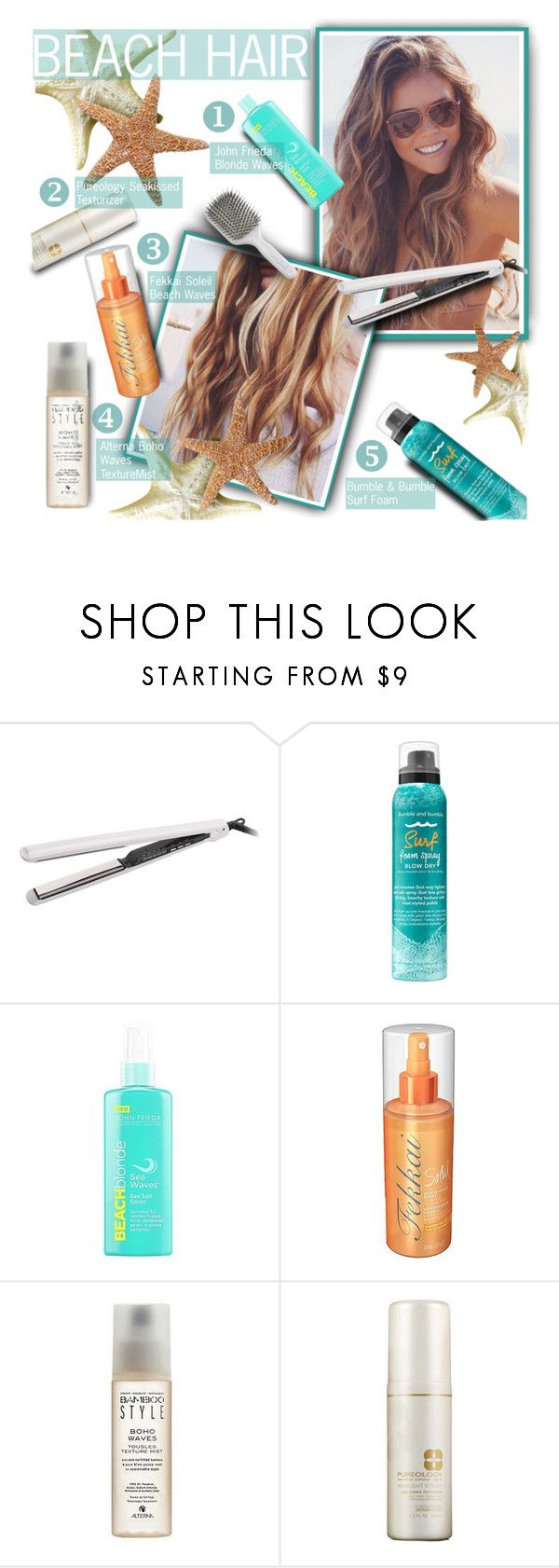 """Beach Hair Don't Care"" by casuality ❤ liked on Polyvore featuring beauty, Corioliss, Bumble and bumble, Fekkai, Alterna, Pureology, Trilogy and Kent"