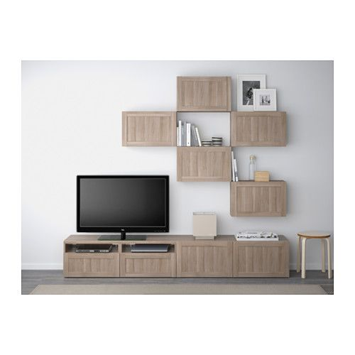 Best combinaison meuble tv hanviken motif noyer teint gris glissi re tir - Combinaison meuble tv ...