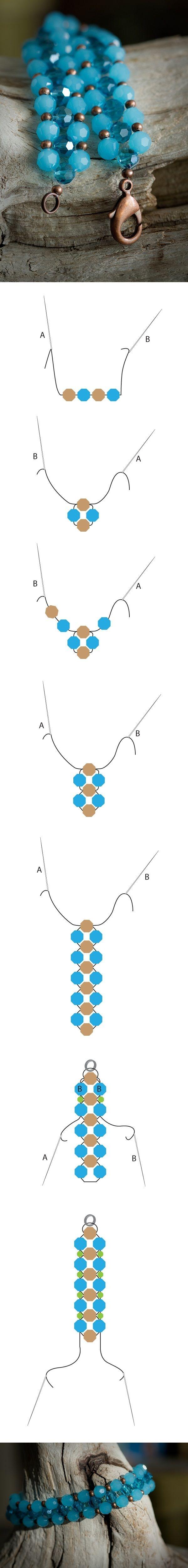 pulsera de perlas ~ por francis
