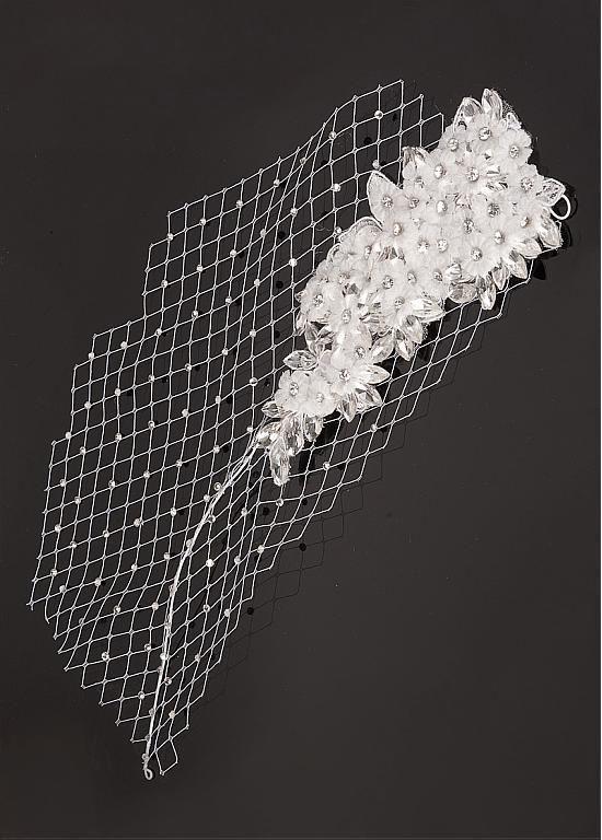 In Stock Elegant Mesh & Czech Diamonds & Glass Diamonds & Silk Yarn Handmade Flowers & Lace Flowers Wedding Bridal Fascinator