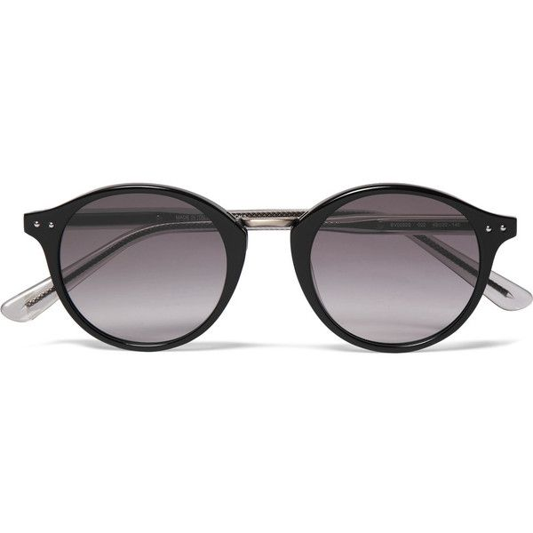 Bottega Veneta Round-Frame Acetate and Metal Sunglasses ($325 ...