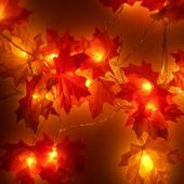 Autumn Fairy Lights 1-10m Mixed String Lights Autumn Leaves Wedding Decorations…