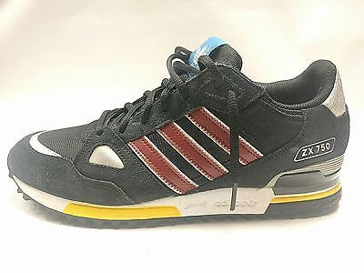 outlet store 46100 ed159 Adidas Originals ZX 750 Shoes Black Cardinal Yellow Red White G96725 Size 9