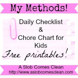 Daily ChecklistChore Chart For Kids  Now With A Printable