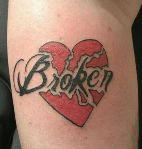 906bd2a16dbe08 Broken Bleeding Heart Tattoo