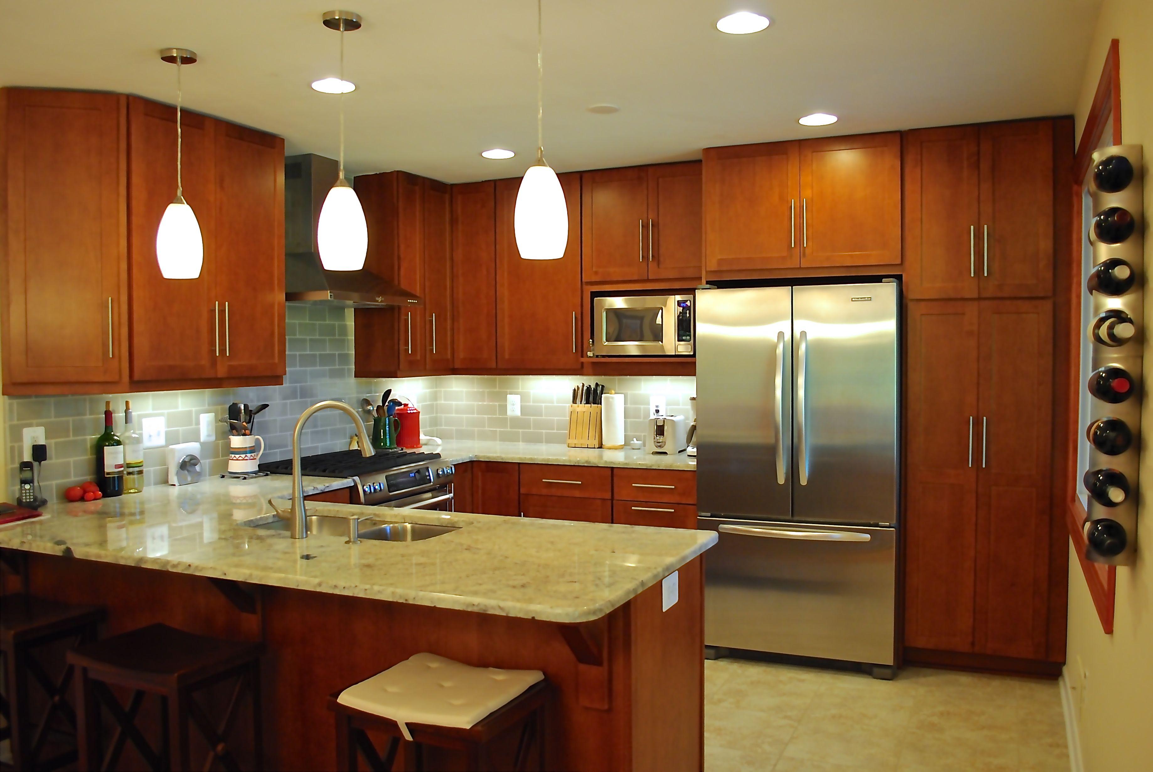 Alder Wood Stained Shaker Kitchen Cabinets By Applianceland Com Kitchen Renovation Modern Kitchen Home Kitchens