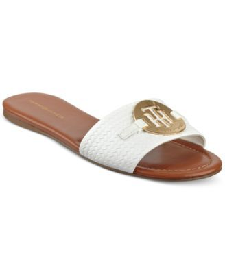 85d62a8d8 TOMMY HILFIGER Tommy Hilfiger Fabre Logo Slide-On Sandals.  tommyhilfiger   shoes   all women