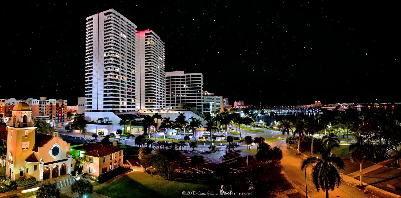Downtown West Palm Beach Trump Plaza Florida