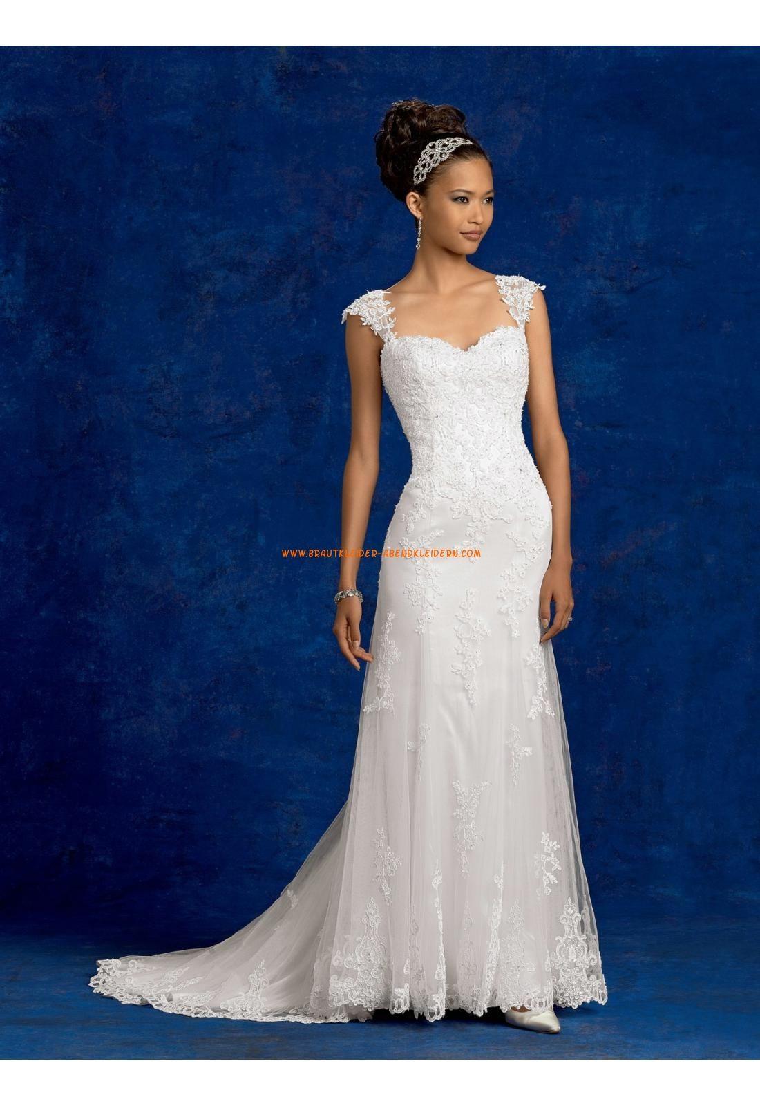 Meerjungfrau Schöne Ausgefallen Brautkleider aus Tüll mit Applikation