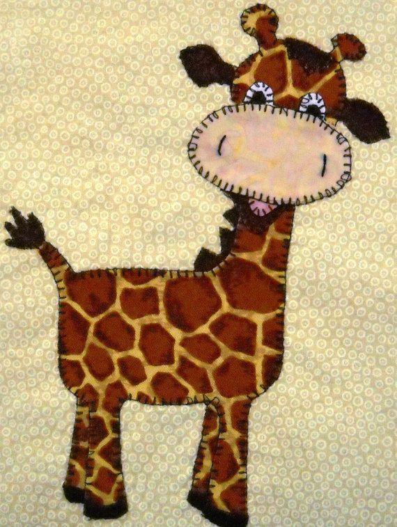 Giraffe PDF applique pattern; baby quilt pattern; kid\'s quilt PDF ...