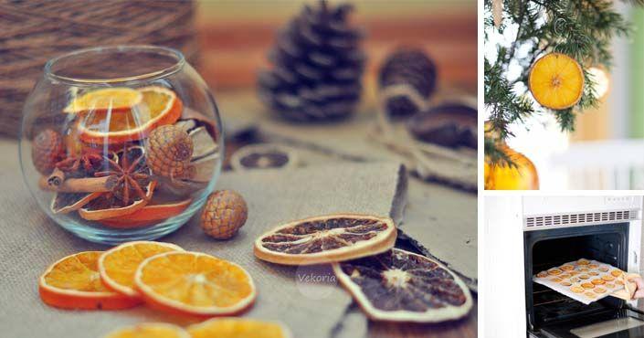 Kreatívne nápady a DIY návody na domáce ozdoby zo sušených citrusov. Sušené  ovocie ako vianočná 06ed988c108