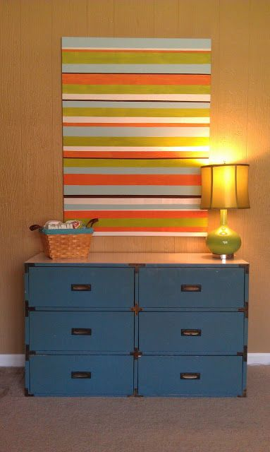 Fun striped wall art tutorial | Diy artwork, Easy diy art, Striped art