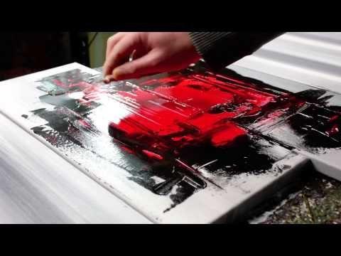 Abstrakt Untergrund Acryl Spachtel Technik Malen Anfanger