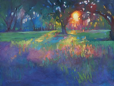 Lingering Light Fauve Impressionist Colorist Oil Painting Of A